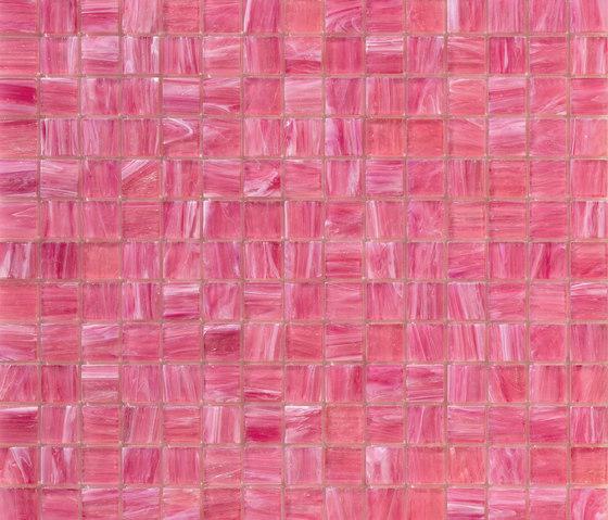 Aurore 20x20 Rosa Vivo de Mosaico+ | Mosaïques verre