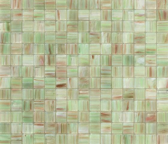 Aurore 20x20 Verde C. di Mosaico+ | Mosaici vetro