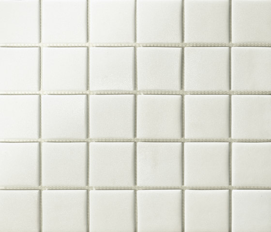Area25 Bianco Grip de Mosaico+ | Mosaïques verre