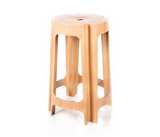 Bloom Bar Low de Riga Chair | Taburetes de bar