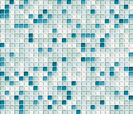 Cromie 10x10 Cobalto M Mix 1 de Mosaico+ | Mosaïques verre