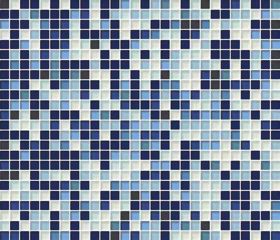 Cromie 10x10 Cobalto M Mix 4 by Mosaico+ | Glass mosaics