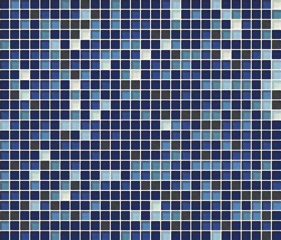 Cromie 10x10 Cobalto M Mix 7 by Mosaico+ | Glass mosaics