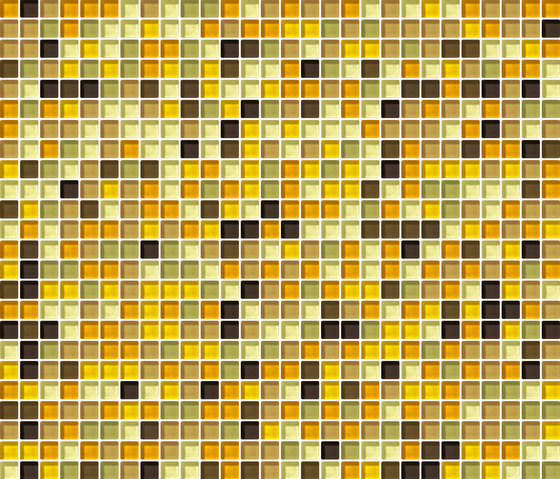 Cromie 10x10 Ambra G Mix 1 by Mosaico+ | Glass mosaics