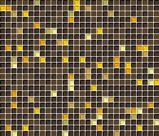Cromie 10x10 Ambra G Mix 7 by Mosaico+ | Glass mosaics