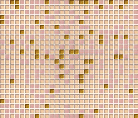 Cromie 10x10 Rosaoro C Mix 1 de Mosaico+ | Mosaïques verre
