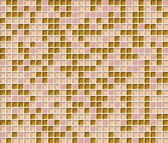 Cromie 10x10 Rosaoro C Mix 4 by Mosaico+ | Glass mosaics