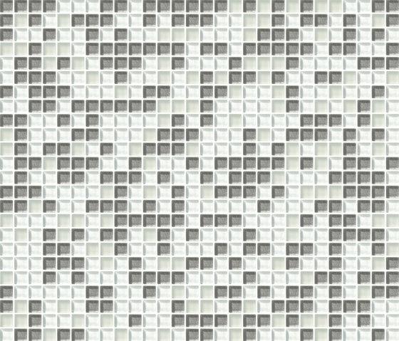 Cromie 10x10 Biancoargento C Mix 4 by Mosaico+   Glass mosaics