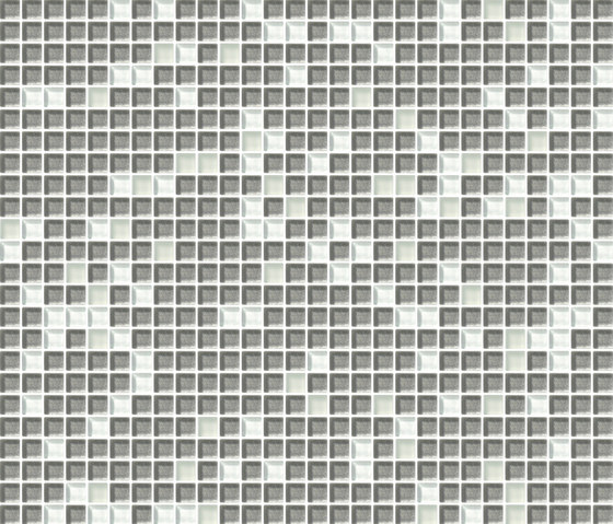 Cromie 10x10 Biancoargento C Mix 7 by Mosaico+   Glass mosaics