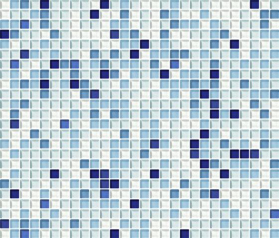Cromie 10x10 Zaffiro G Mix 1 by Mosaico+ | Glass mosaics