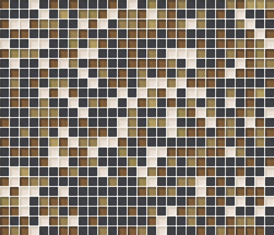 Cromie 10x10 Senape M Mix 7 by Mosaico+ | Glass mosaics