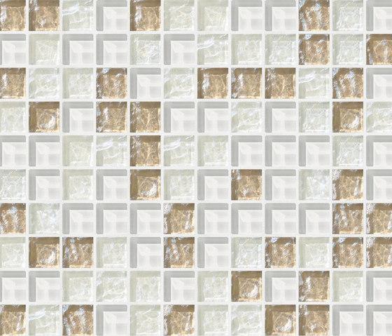 Cromie 23x23 Bassano by Mosaico+ | Glass mosaics