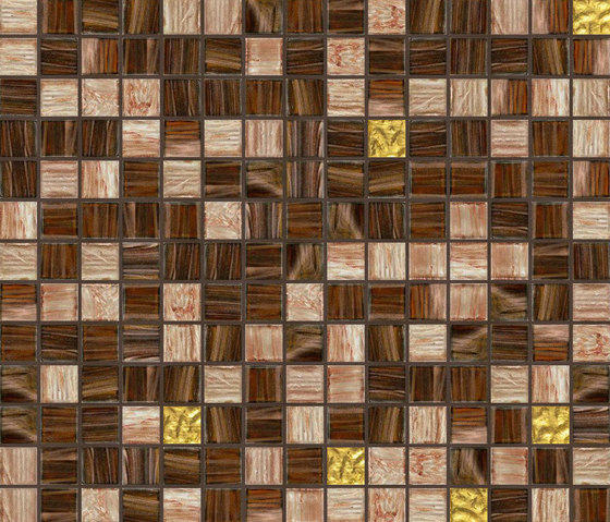 Cromie 20x20 Quito Oro by Mosaico+ | Glass mosaics