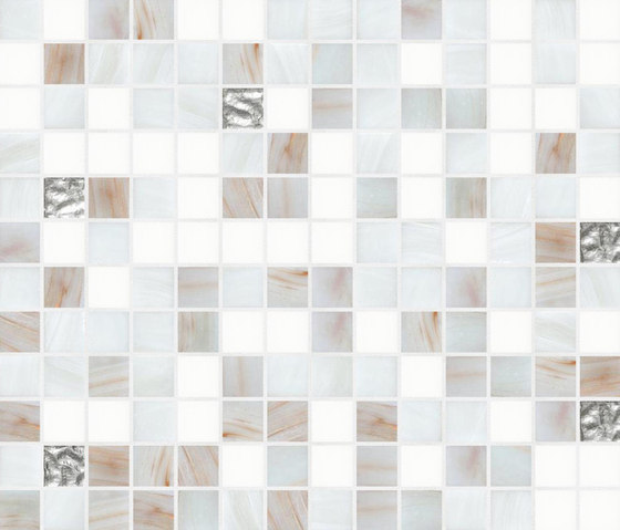 Cromie 20x20 Bergen Oro by Mosaico+ | Glass mosaics