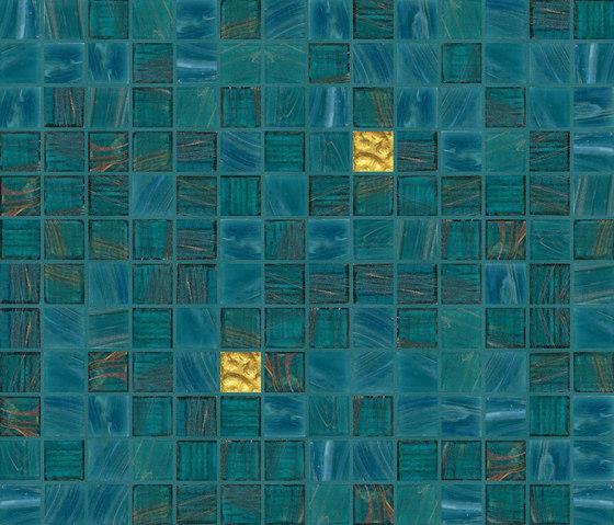 Cromie 20x20 Palma Oro di Mosaico+ | Mosaici vetro