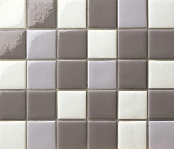 Cromie 50x50 Mix Grigio by Mosaico+ | Glass mosaics