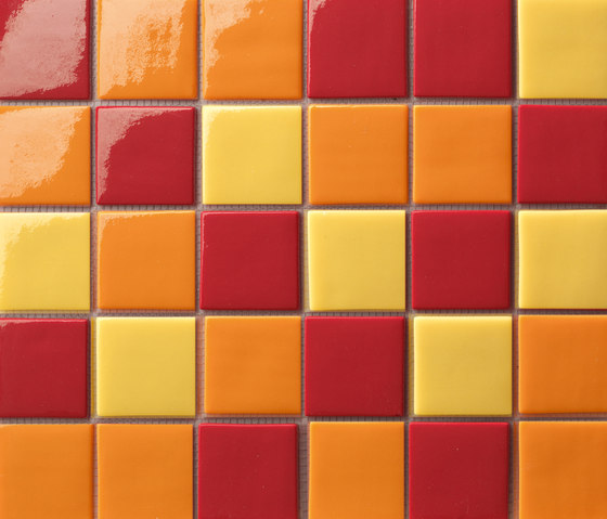 Cromie 50x50 Mix Arancio by Mosaico+ | Glass mosaics
