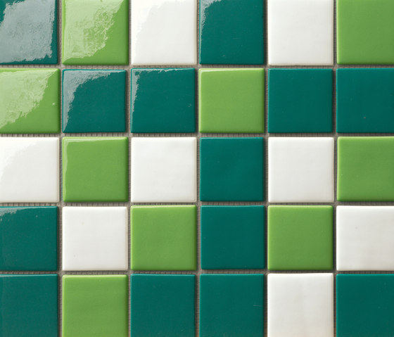 Cromie 50x50 Mix Verde by Mosaico+ | Glass mosaics