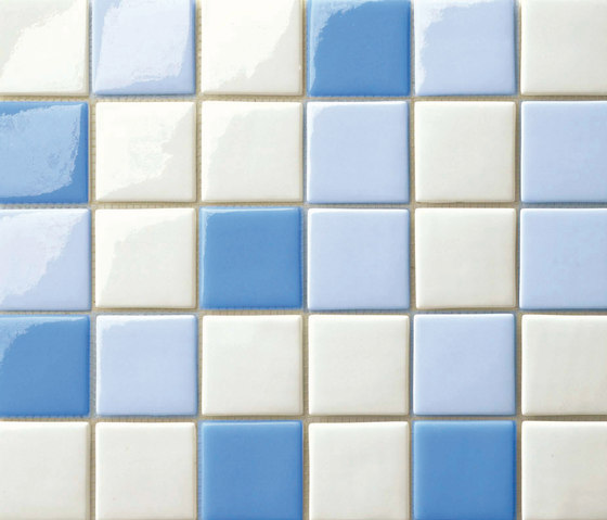 Cromie 50x50 Mix Azzurro by Mosaico+ | Glass mosaics