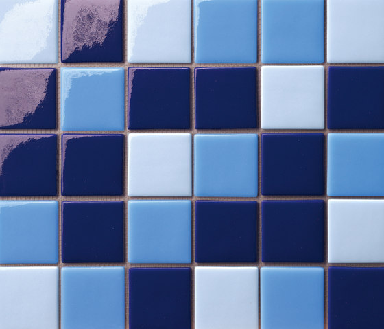 Cromie 50x50 Mix Blu by Mosaico+ | Glass mosaics