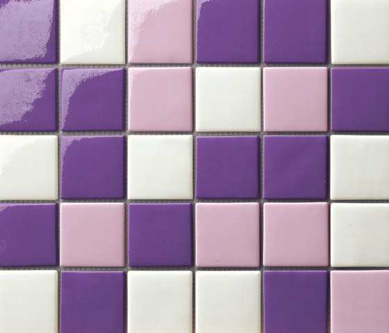 Cromie 50x50 Mix Viola by Mosaico+ | Glass mosaics