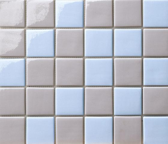 Cromie 50x50 Mix Grigio Azzurro by Mosaico+ | Glass mosaics