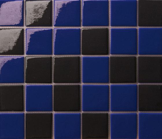 Cromie 50x50 Mix Nero Blu by Mosaico+ | Glass mosaics