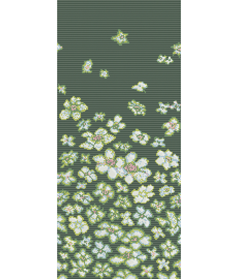 Decor 10x10 Wind Flowers Green by Mosaico+ | Glass mosaics