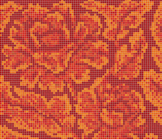 Decor 15x15 Lacquer Red B by Mosaico+ | Mosaics
