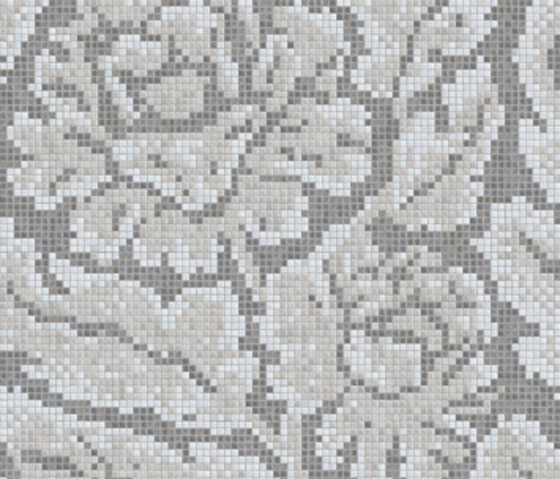 Decor 15x15 Lacquer Grey A by Mosaico+ | Glass mosaics