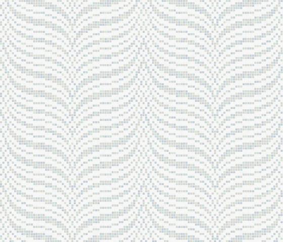 Decor 20x20 Soundwave White by Mosaico+ | Glass mosaics