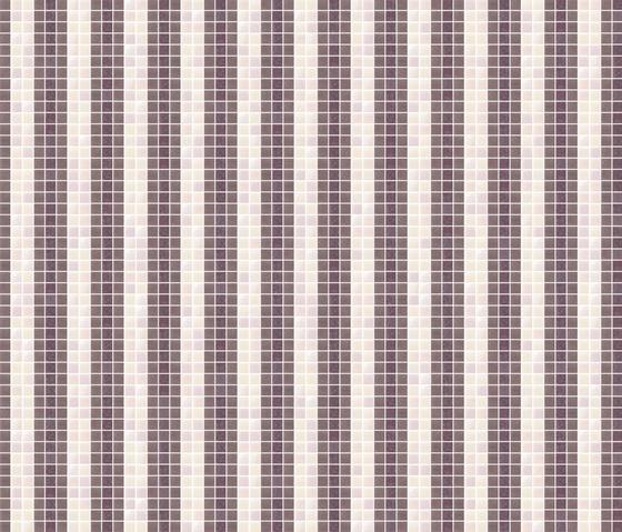 Decor 20x20 Stripes Violet by Mosaico+ | Glass mosaics