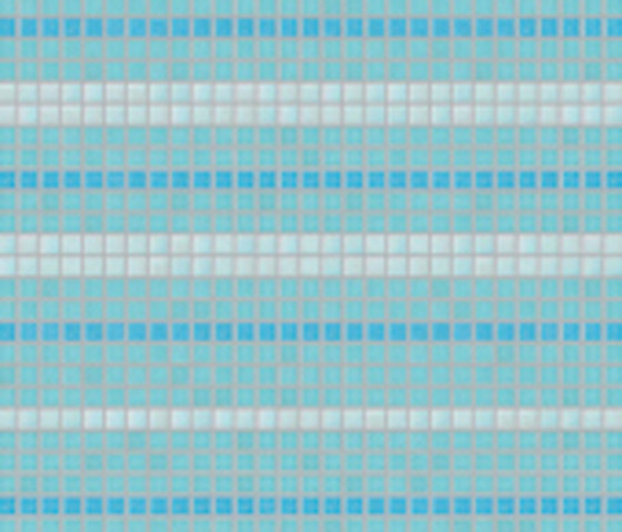 Decor 20x20 Satin Plus Blu by Mosaico+ | Glass mosaics