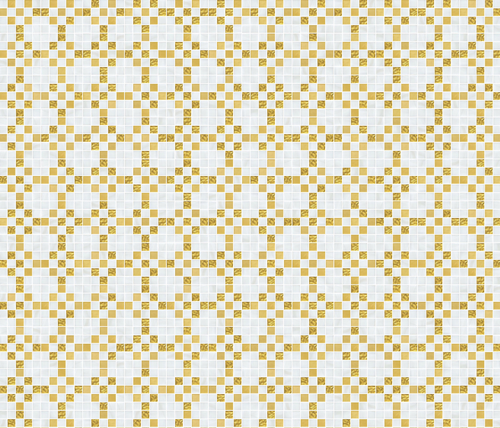 Decor 20x20 Mohair Oro Giallo by Mosaico+ | Glass mosaics