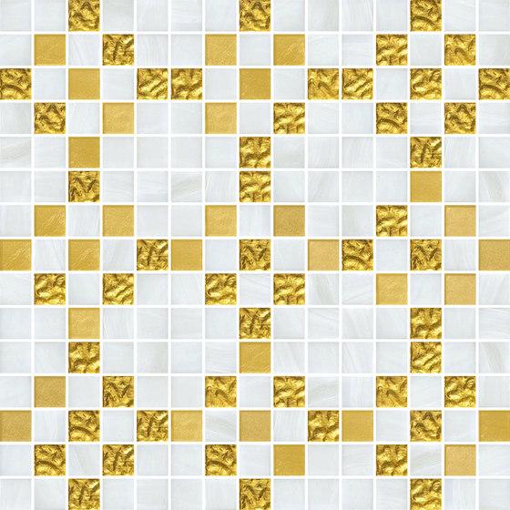Decor New Classic | Mohair Oro Giallo 20x20 by Mosaico+ | Glass mosaics