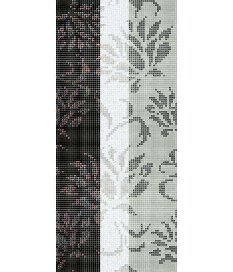 Decor 20x20 Garofano Oro Bianco de Mosaico+ | Mosaïques