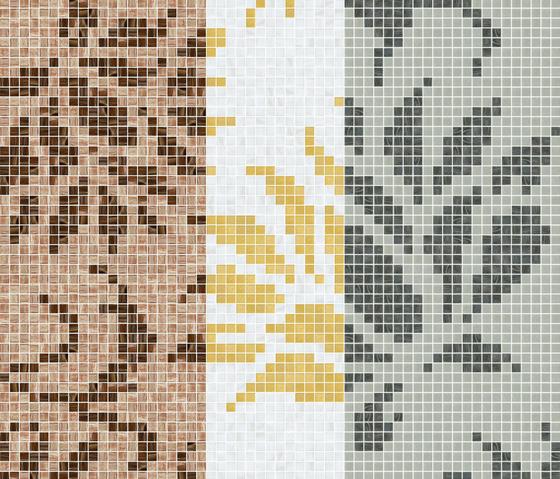 Decor 20x20 Garofano Oro Giallo by Mosaico+ | Glass mosaics