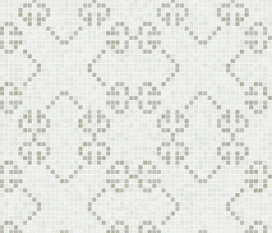 Decor 20x20 Messico Bianco by Mosaico+ | Glass mosaics
