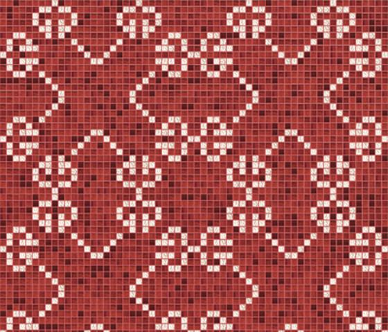 Decor 20x20 Messico Amaranto by Mosaico+ | Glass mosaics
