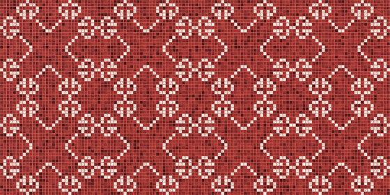 Decor New Classic | Messico Amaranto 20x20 by Mosaico+ | Glass mosaics