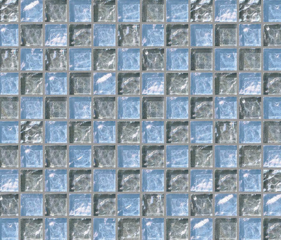 Decor 23x23 Chess Grey Decoro by Mosaico+ | Glass mosaics