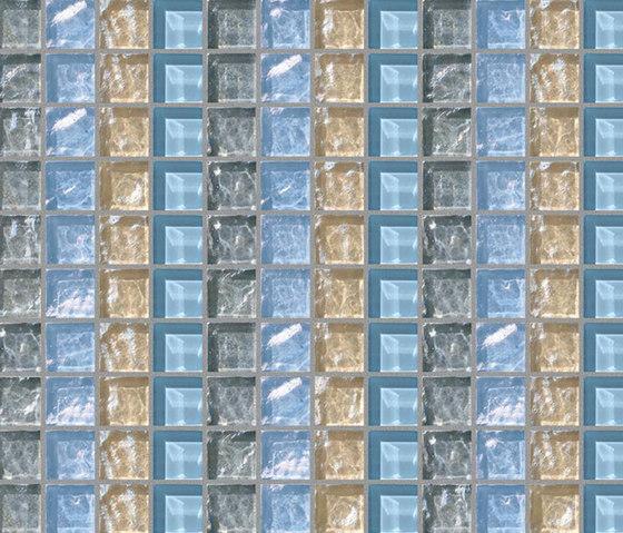 Decor 23x23 Quartet Grey Decoro by Mosaico+ | Glass mosaics