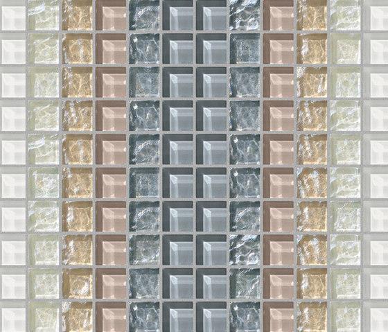 Decor 23x23 Shade White Decoro by Mosaico+ | Mosaics