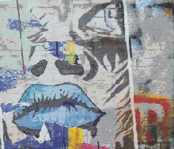 Decor Pannelli Blue Manga by Mosaico+ | Glass mosaics