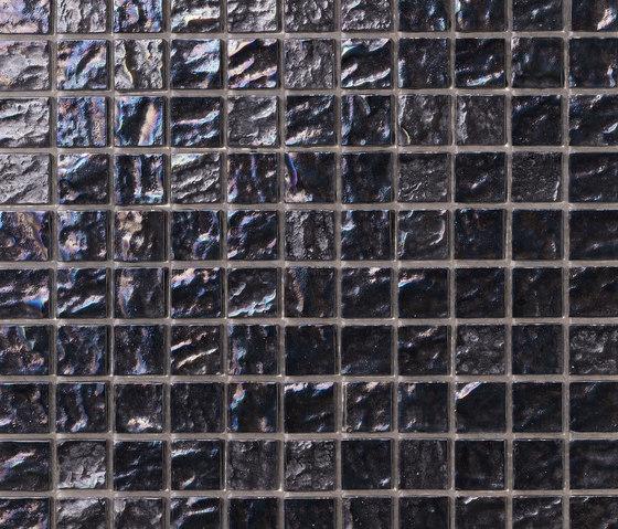 Onde 23x23 Antracite von Mosaico+ | Glas Mosaike