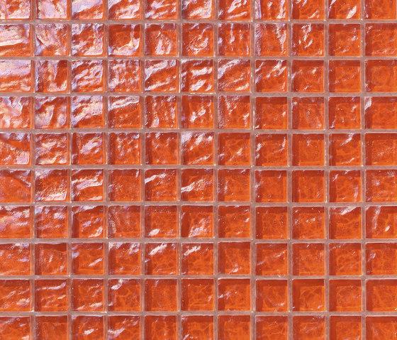 Onde 23x23 Arancio de Mosaico+ | Mosaïques verre