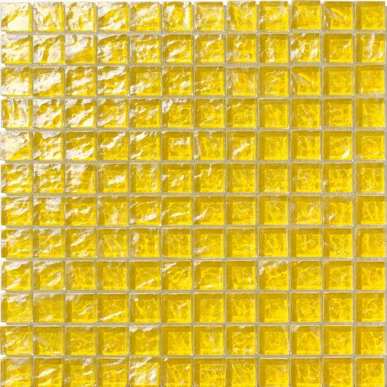 Onde 23x23 Giallo de Mosaico+ | Mosaïques verre