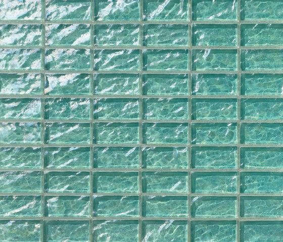 Onde 23x48 Menta R de Mosaico+ | Mosaïques verre