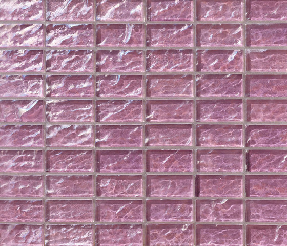 Onde 23x48 Lilla R de Mosaico+ | Mosaïques verre
