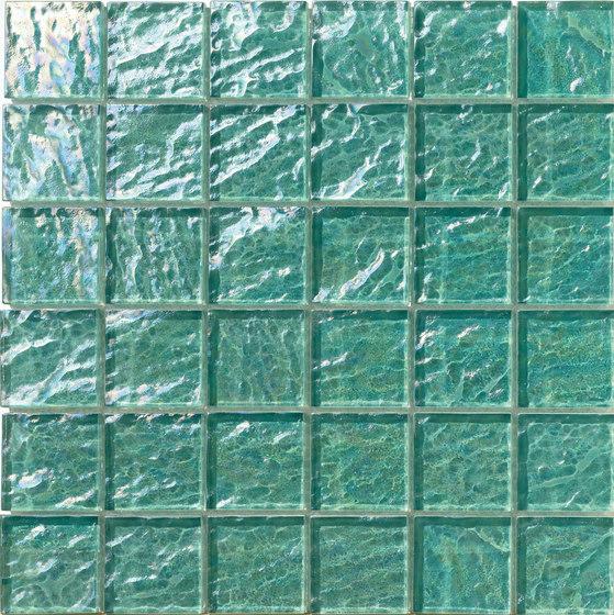 Onde 48x48 Menta Q by Mosaico+   Glass mosaics